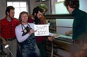 Celebrating making the 1000th shaft